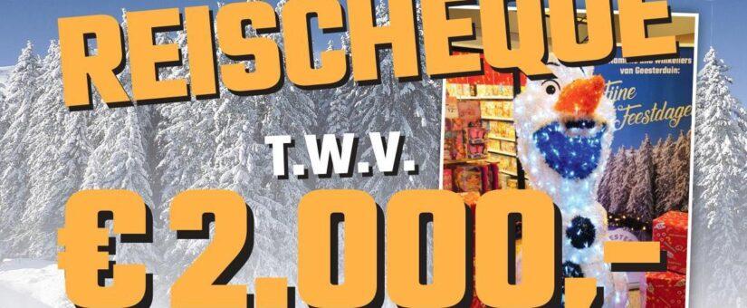 Win een reischeque t.w.v. €2.000,-